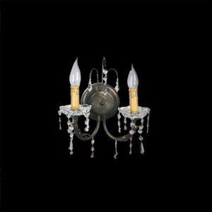 Απλίκα κερί με μέταλλο και κρύσταλλο