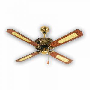 Ανεμιστήρας κλασικός οροφής με ξύλινα φτερά