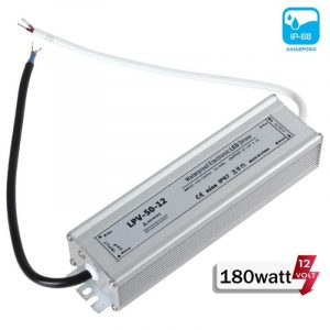Τροφοδοτικό LED 180watt αδιάβροχο