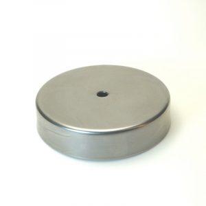 Βάση φωτιστικών μεταλλική κυκλική Φ12,4εκ.