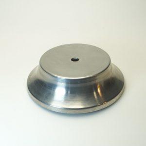 Βάση φωτιστικών μεταλλική κυκλική Φ13,1 εκ.