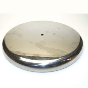 Βάση φωτιστικών μεταλλική κυκλική χρώμιο Φ30εκ.