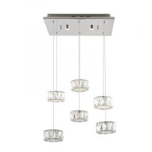 Φωτιστικό LED κρεμαστό 6φωτο(κρεμαστό) + 2φωτο(οροφής)