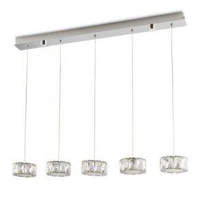 Φωτιστικό LED κρεμαστό ράγα 5φωτο(κρεμαστό) + 2φωτο(οροφής)