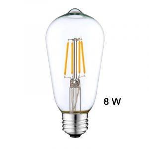 Λαμπτήρας E27 8W LED αχλάδι Retro