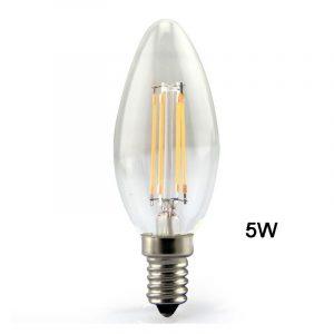 Λαμπτήρας E14 5W LED Retro κερί