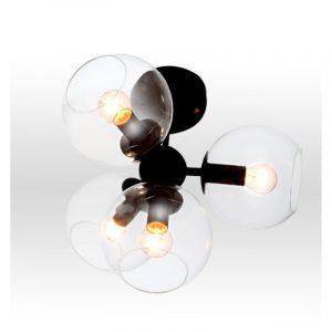 Φωτιστικό οροφής με γυαλί 4φωτο