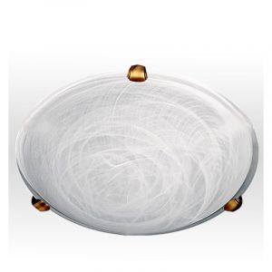 Φωτιστικό πλαφονιέρα κλασικό 2φωτο λευκό