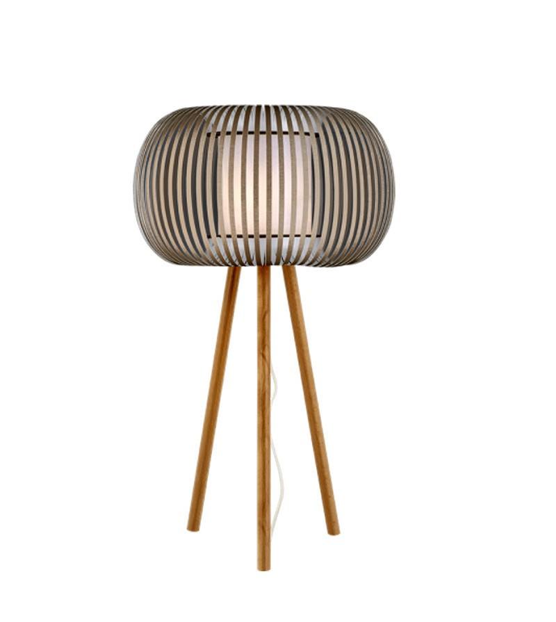 Φωτιστικό επιτραπέζια λάμπα με καπέλο λευκό με μπεζ 1φωτο e98b0910ac8