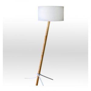 Φωτιστικό δαπέδου με λευκό αμπαζούρ 1φωτο