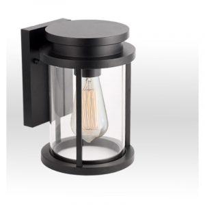 Φωτιστικό απλίκα αλουμινίου σε μαύρο 1φωτη