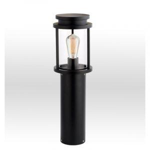 Φωτιστικό στήλος αλουμινίου σε μαύρο 1φωτη