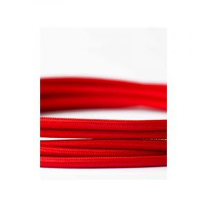 Καλώδιο Υφασμάτινο στρόγγυλο σε κόκκινο χρώμα