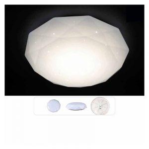 Φωτιστικό πλαφονιέρα LED ακρυλική με μεταλλική βάση