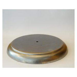 Βάση φωτιστικών μεταλλική κυκλική Φ30 εκ. Ύψος: 3,2 εκ.